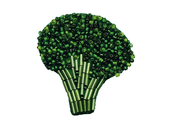 Brooch. Broccoli Bead Embroidery Kit фото 1