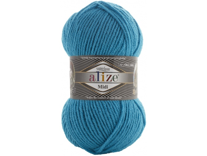 Alize Superlana Midi 25% Wool, 75% Acrylic, 5 Skein Value Pack, 500g фото 32