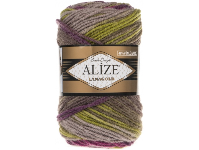 Alize Lanagold Batik 49% Wool, 51% Acrylic, 5 Skein Value Pack, 500g фото 11