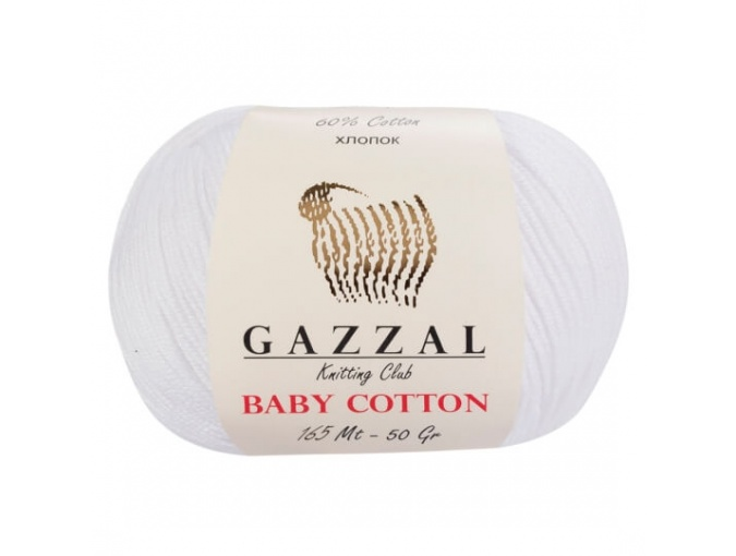 Gazzal Baby Cotton, 60% Cotton, 40% Acrylic 10 Skein Value Pack, 500g фото 46