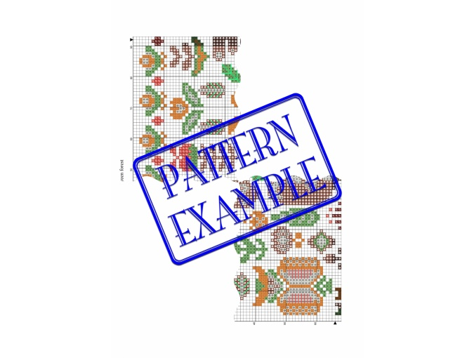 Hygge Green Forest Cross Stitch Pattern фото 6