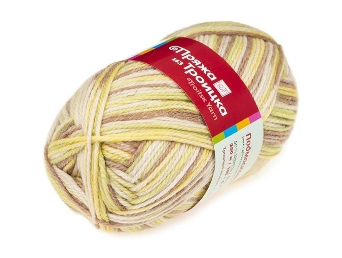 Troitsk Wool Countryside Print, 50% wool, 50% acrylic 10 Skein Value Pack, 1000g фото 39