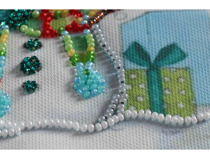 Snow Friends Bead Embroidery Kit фото 4
