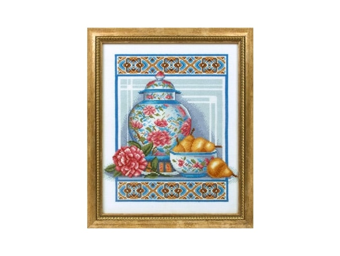 Chinese Porcelain Cross Stitch Kit фото 2