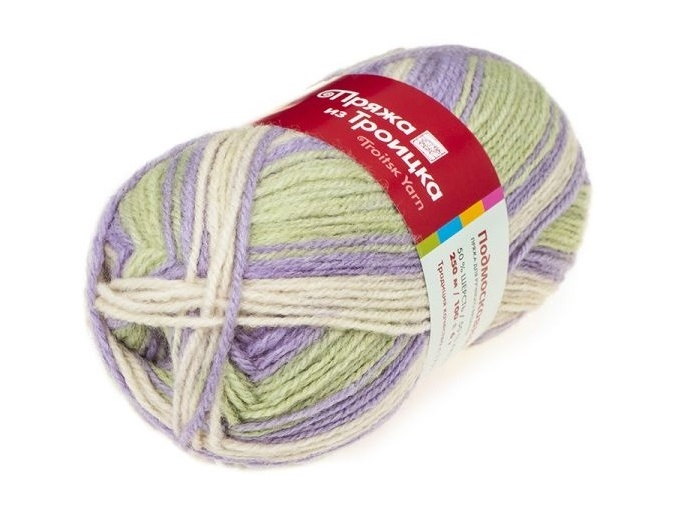 Troitsk Wool Countryside Print, 50% wool, 50% acrylic 10 Skein Value Pack, 1000g фото 59
