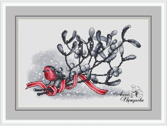 Mistletoe's Branch Cross Stitch Pattern фото 1