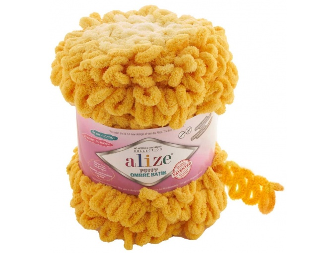 Alize Puffy Ombre Batik, 100% Micropolyester 1 Skein Value Pack, 600g фото 3