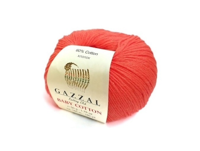 Gazzal Baby Cotton, 60% Cotton, 40% Acrylic 10 Skein Value Pack, 500g фото 100