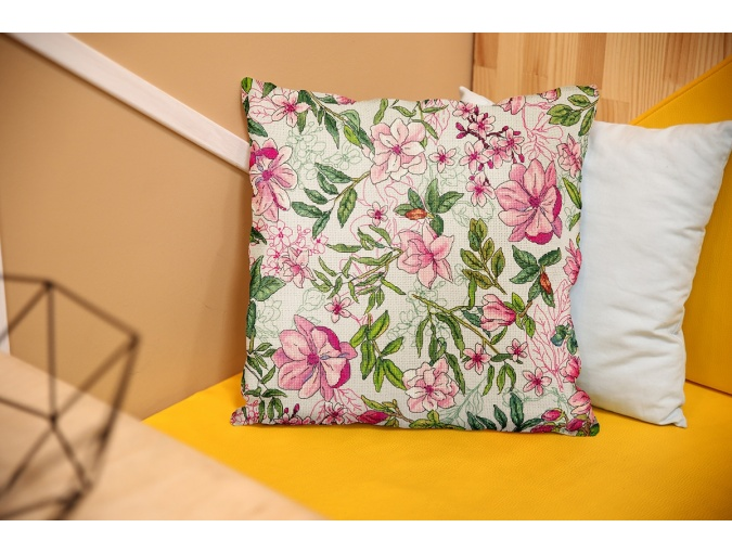 Magnolia Cushion Front Cross Stitch Kit фото 4