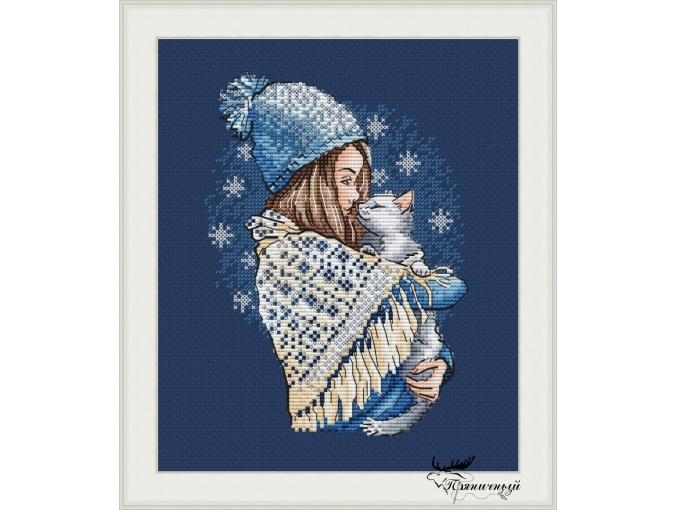 Warm Hugs. Winter Cross Stitch Pattern фото 1