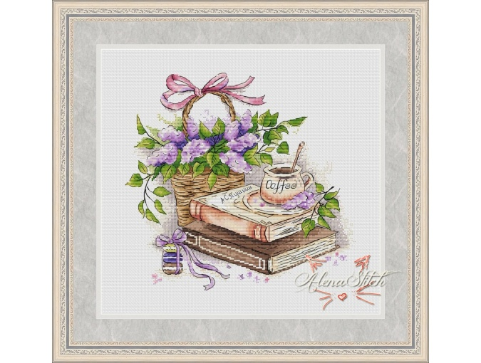 Fragrant Morning Cross Stitch Pattern фото 1