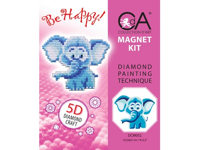 Elephant Magnet Diamond Painting Kit фото 2