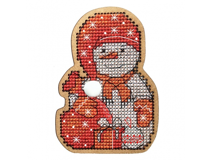 Christmas Toys. Snowman in a Cap Cross Stitch Kit фото 1