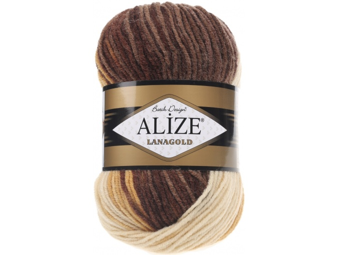 Alize Lanagold Batik 49% Wool, 51% Acrylic, 5 Skein Value Pack, 500g фото 5