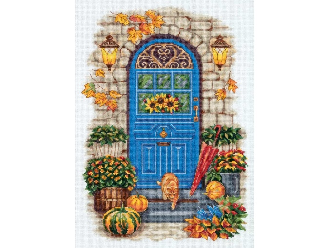 Autumn at the Door Cross Stitch Kit фото 1