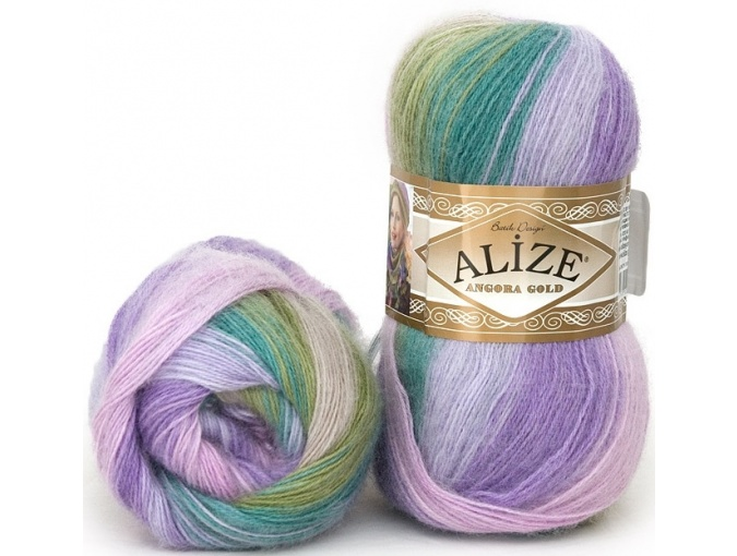Alize Angora Gold Batik, 10% mohair, 10% wool, 80% acrylic 5 Skein Value Pack, 500g фото 36