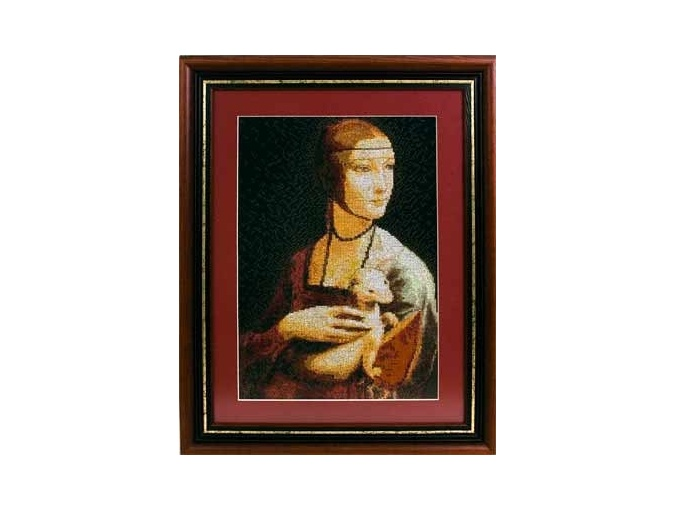 Lady with an Ermine Cross Stitch Kit фото 2