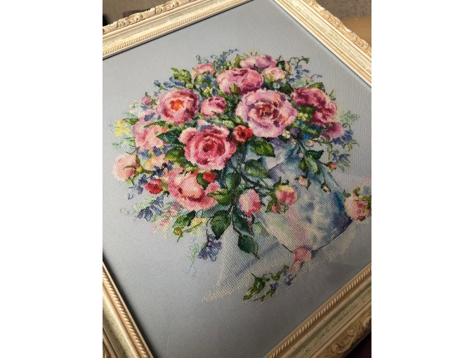 Bouquet of Roses Cross Stitch Chart фото 3