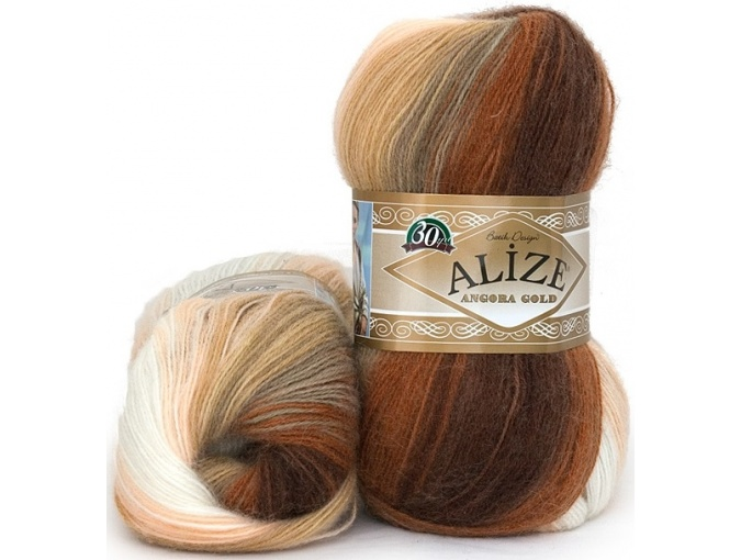 Alize Angora Gold Batik, 10% mohair, 10% wool, 80% acrylic 5 Skein Value Pack, 500g фото 27