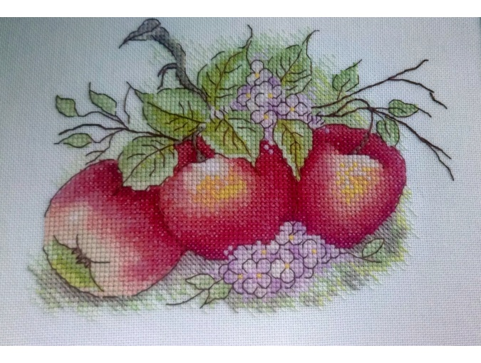 Apples Cross Stitch Chart фото 2