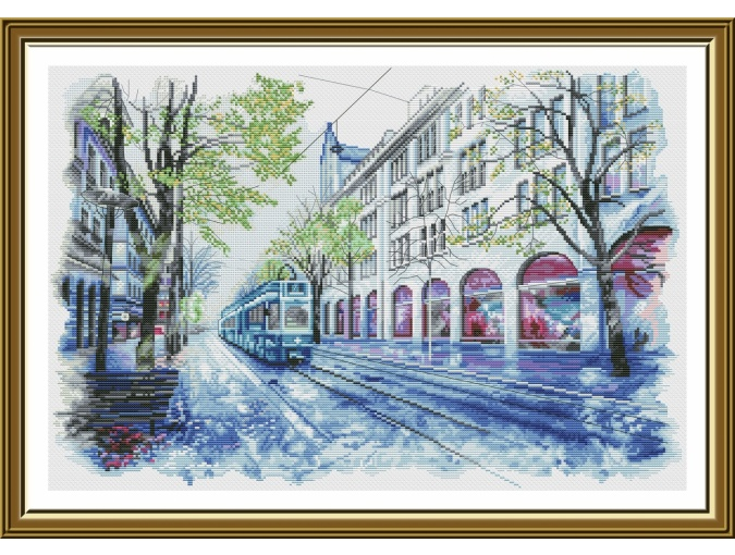 City Tram Cross Stitch Kit фото 1