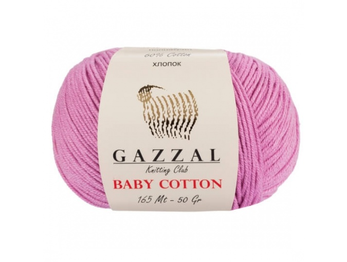 Gazzal Baby Cotton, 60% Cotton, 40% Acrylic 10 Skein Value Pack, 500g фото 26