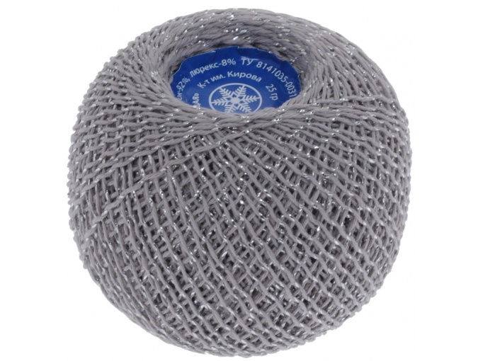 Kirova Fibers Sparkling Snowflake, 86% cotton, 14% lurex, 20 Skein Value Pack, 500g фото 10