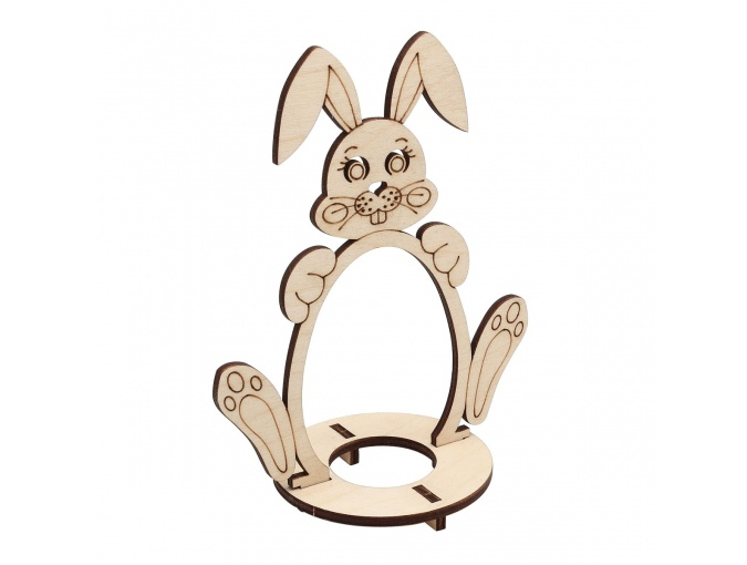 Wooden Easter Egg Stand Bunny фото 1