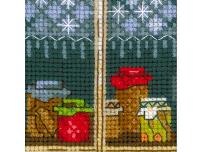 Window With Apples Cross Stitch Kit фото 3