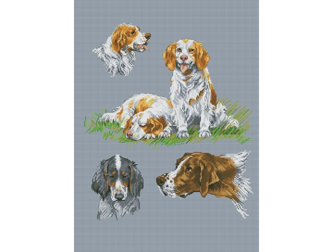 Dog Sampler 1 Cross Stitch Pattern фото 1