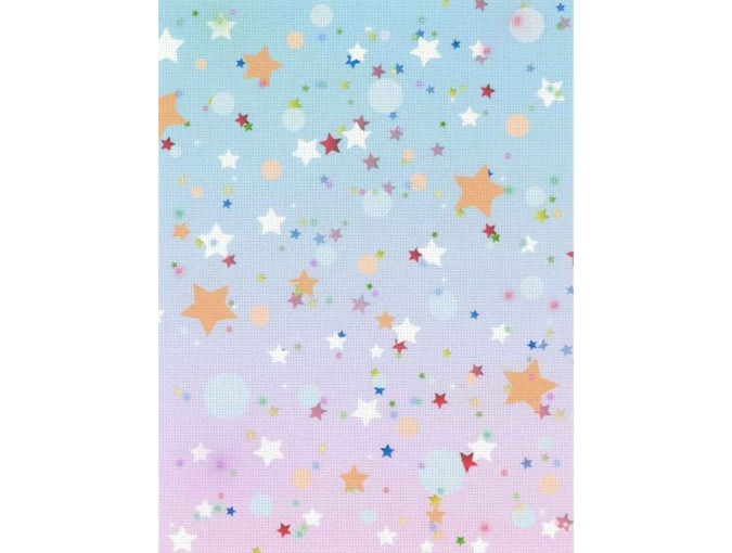 18 Count Aida Designer Fabric by MP Studia Pastel Stars фото 1