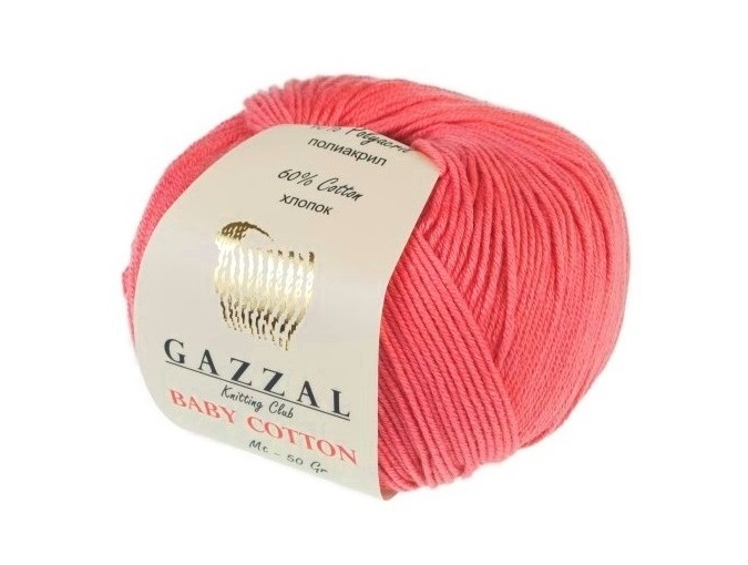 Gazzal Baby Cotton, 60% Cotton, 40% Acrylic 10 Skein Value Pack, 500g фото 102