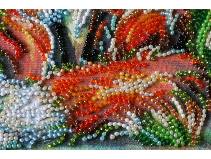 Small Foxes Bead Embroidery Kit фото 4