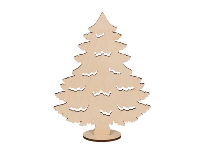 Wooden Christmas Tree on Stand фото 1