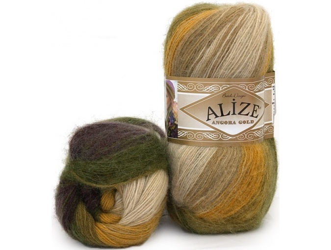 Alize Angora Gold Batik, 10% mohair, 10% wool, 80% acrylic 5 Skein Value Pack, 500g фото 49