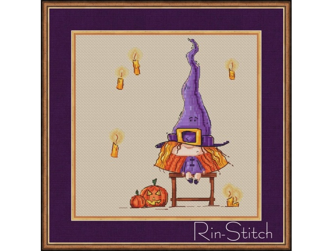 Young Witch Cross Stitch Pattern фото 1