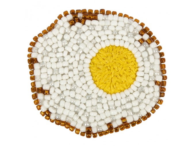 Brooch. Fried Egg Bead Embroidery Kit фото 1