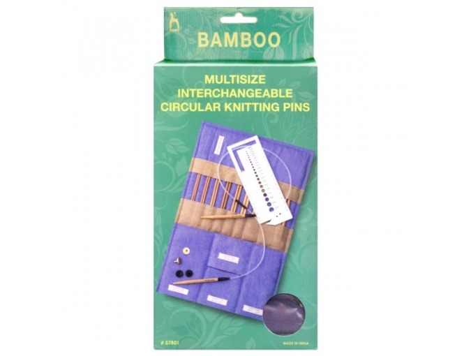 Bamboo Multisize Interchangeable Circular Knitting Pins фото 4