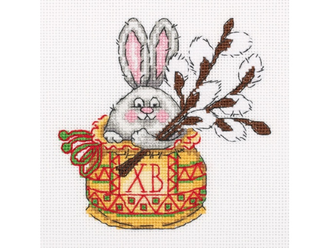 Bunny with a Willow Twig Cross Stitch Kit фото 1