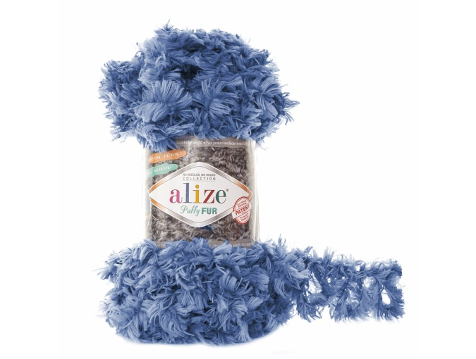 Alize Puffy Fur, 100% Polyester 5 Skein Value Pack, 500g фото 14
