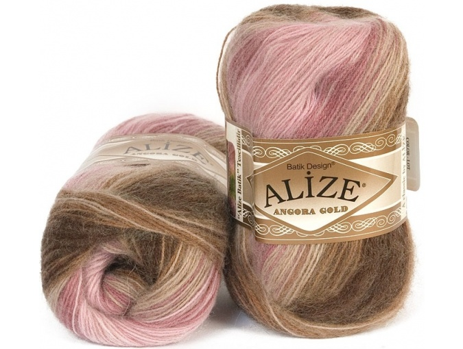 Alize Angora Gold Batik, 10% mohair, 10% wool, 80% acrylic 5 Skein Value Pack, 500g фото 15