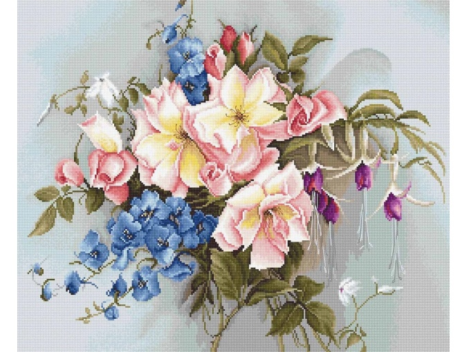Bouquet with Bluebells Cross Stitch Kit фото 1