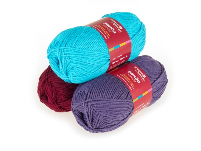 Troitsk Wool Vanda, 100% Cotton 5 Skein Value Pack, 500g фото 1