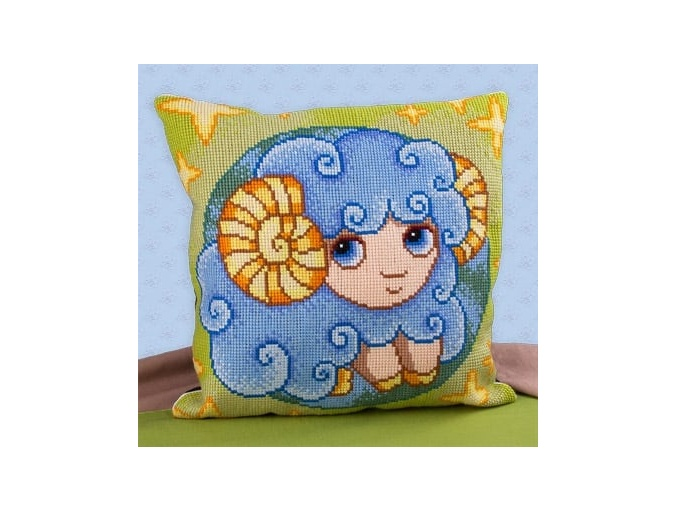 Little Aries Cushion Cross Stitch Kit фото 1