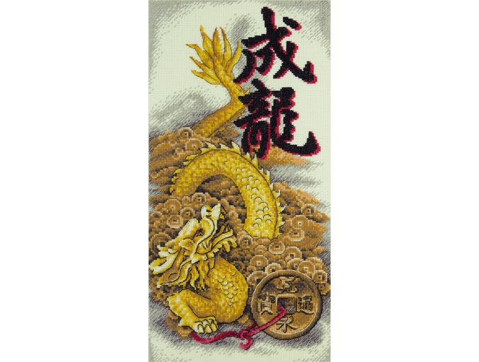 Golden Dragon Cross Stitch Kit фото 1