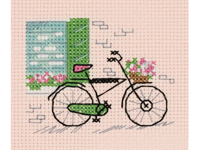 Sketches. On Bicycle Cross Stitch Kit фото 1