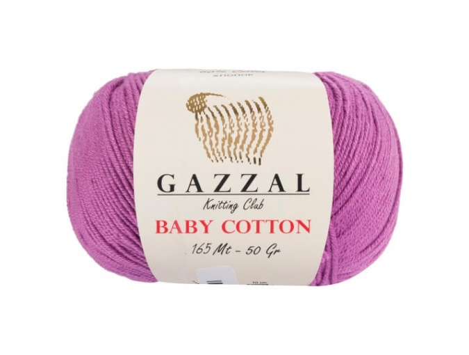 Gazzal Baby Cotton, 60% Cotton, 40% Acrylic 10 Skein Value Pack, 500g фото 10