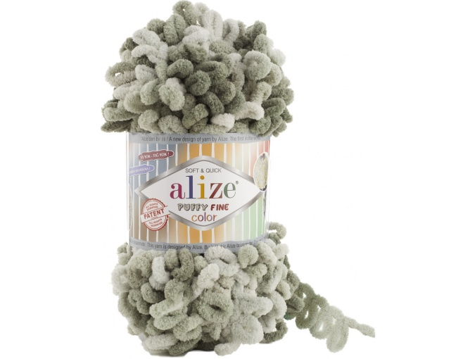 Alize Puffy Fine Color, 100% Micropolyester 5 Skein Value Pack, 500g фото 14