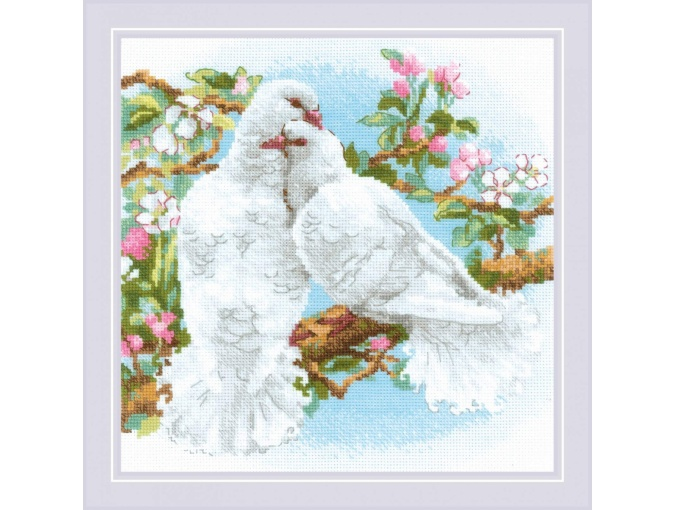 White Doves Cross Stitch Kit фото 1