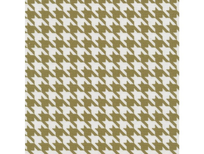 Fat Quarter Peppy, print Pale Green Houndstooth фото 1